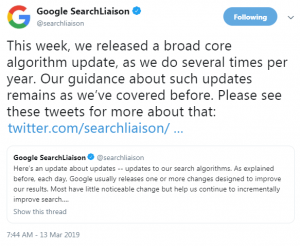 Google Update March 2019